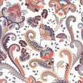 Paisley Floral Seamless Pattern. Indian Ornament. Vector Decorative Flowers And Paisley. Ethnic Style. Design For Royalty Free Stock Image - 93689196