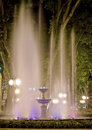 Bright Fountain At Night. Stock Images - 9378794