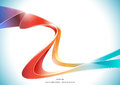 Blue Orange Red Purple Colorful Wave Stripe Ribbon Abstract Background, Transparent Vector Illustration Stock Image - 93704331