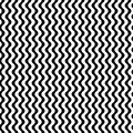 Vector Monochrome Seamless Pattern, Simple Wavy Lines Stock Photos - 93705923