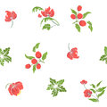 Seamless Pattern With Vintage Embroidered Flowers Royalty Free Stock Image - 93714176