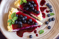 Cheesecake With Blueberries Stock Image - 93723011