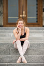 Pretty Dancer On The Steps Royalty Free Stock Photo - 93730795