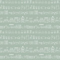 Hand Drawn Sketch Furniture Pattern Stock Photography - 93775142