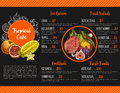 Vector Menu For Tropical Exotic Fruit Cafe Royalty Free Stock Photos - 93789808