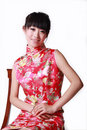 Chinese Girl In Traditional Dress Stock Photography - 9380062