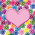 Heart Shape On Flower Background Royalty Free Stock Photography - 9382727