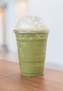 Green Tea Latte Frappe Royalty Free Stock Photography - 93808097