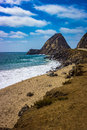 Scenic View Of The Point Mugu Rock Along Pacific Coast Highway Royalty Free Stock Images - 93812489