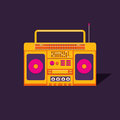 Illustration Cassette Tape Recorder. Royalty Free Stock Images - 93817389