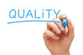 Quality Blue Marker Royalty Free Stock Photo - 93818695