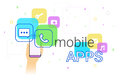 Mobile Apps On Smartphone Stock Image - 93827331