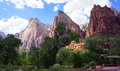 Three Patriarchs Of Zion National Park Royalty Free Stock Image - 93829106
