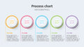 Business Process Chart Infographics With Step Circles. Circular Corporate Timeline Graphic Elements. Company Presentation Slide Te Stock Photography - 93831292