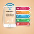 3D Infographic. Smartphone Icon. Stock Images - 93838994