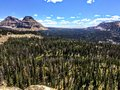 Panoramic Landscape View Of Uinta Mountains, Clouds, Lakes And Forest, Utah, USA, America West Stock Photos - 93839023