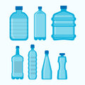 Plastic Bottles Vector Isolated Icons Set Royalty Free Stock Images - 93841929