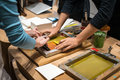 The Art Of Paper Workshop Stock Image - 93843301