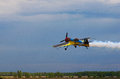 Third AirFestival At Chaika Airfield. A Small Sports Plane Flies At A Low Altitude Stock Photography - 93884262