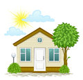 House With A Tree And Clouds Royalty Free Stock Images - 93886019