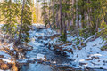 Snowy Creek Royalty Free Stock Image - 93886986