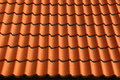 Red Brown Ceramic Roof Tiles Pattern Background Stock Photo - 93898340