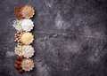 Selection Of Various Gluten Free Flour Royalty Free Stock Image - 93903016