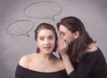 Girl Telling Secret Things To Her Girlfriend Royalty Free Stock Photo - 93919195