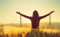 Woman Feeling Free In A Beautiful Natural Landscape Royalty Free Stock Image - 93924936