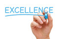 Excellence Blue Marker Royalty Free Stock Photo - 93939435
