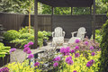 Landscaped Garden With Terrace Royalty Free Stock Image - 93940686