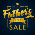 Father Day Special Offer SALE Golden Lettering Banner Stock Photography - 93940762