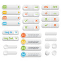 Vector  Realistic Matted White Color Web  Buttons  Symbol Set Is Royalty Free Stock Images - 93942519