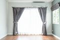 Empty Curtain Interior Decoration In Living Room Royalty Free Stock Photo - 93943585