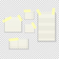 Sticky Paper Notes Pack Collection Set On Transparent Background  Vector Illustration Royalty Free Stock Photos - 93947068