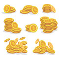 Icons Coins For The Game Interface. Set Of Cartoon Coin For Apps.Vector Illustration. Royalty Free Stock Photography - 93953747