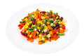 Healthy Food: Steamed Vegetables On A White Plate Stock Photo - 93956860
