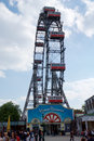 VIENNA, AUSTRIA - APR 30th, 2017: Famous And Historic Ferris Wheel Of Vienna Prater Park Called Wurstelprater During A Stock Photography - 93966842