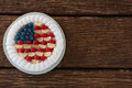 Fruitcake With 4th July Theme Stock Photography - 93972572