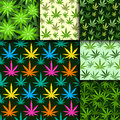 Green Marijuana Background Vector Illustration Seamless Pattern Marihuana Leaf Herb Narcotic Textile Stock Photography - 93996982