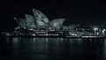 Vivid Sydney 2017 At The Opera House In Black And White Stock Photo - 94008180