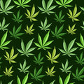 Green Marijuana Background Vector Illustration Seamless Pattern Marihuana Leaf Herb Narcotic Textile Stock Photography - 94008312