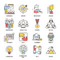 Team Building Business Communication Outline Icons Vector Isolated Together Command Teamworking Royalty Free Stock Photography - 94032827