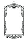 Vintage Imperial Baroque Mirror Frame. Vector French Luxury Rich Intricate Ornaments. Victorian Royal Style Decor Stock Image - 94059321