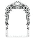 Vintage Imperial Baroque Mirror Frame. Vector French Luxury Rich Intricate Ornaments. Victorian Royal Style Decor Stock Image - 94059351