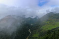 Scenery Of Foggy Hills And Mangde River In Bumthang, Bhutan Royalty Free Stock Image - 94064776