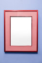 Blank Red Frame On A Purple Wall Stock Photos - 94076913
