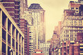 Retro Toned Picture Of Manhattan Buildings, NYC. Stock Photos - 94098703