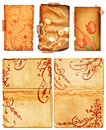 Grunge Open Book Pages With Swirls Stock Image - 9412701