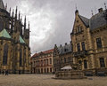 Courtyard Of Saint Vitus S Cathedral Stock Photography - 9415332